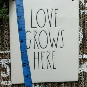 Rae Dunn Other - Rae Dunn Wall Hanging Sign Love Grows Here